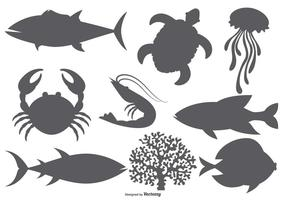 Sea Animal Vector Shapes