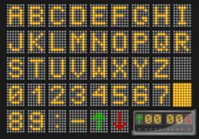 Vetor LED numero e alfabeto