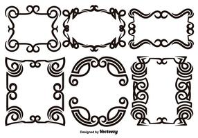 Scroll Works Design - Ornamental Decorative Frames - Vector Elements