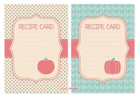 Cute Recipe Cards Set