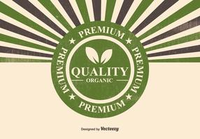 Organic Premium Quality Illustration