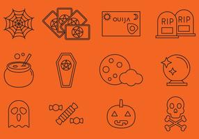 Halloween Line Icons vector