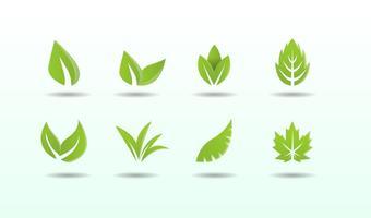 Kostenlose Sammlung Hojas Logo Vektor