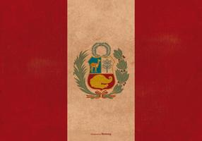 Vintage Grunge Flagga av Peru