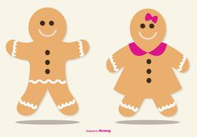 Cute Lebkuchen / Gingerbread Illustrations vecteur