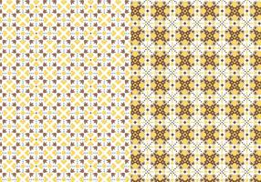 Yellow Motif Pattern