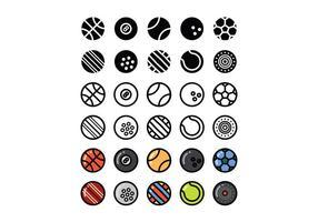 Set of Sport Ball Vectors