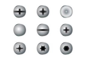 Nagelkopf Set vektor