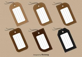 Set Of 6 Vector Tags