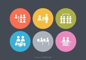 Free Vector Working Together Icons