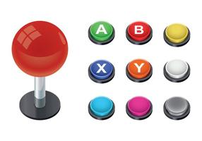 Gratis Arcade Button Vector