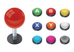 Arcade Button Vector
