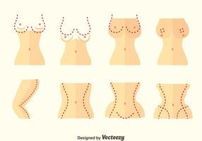 Conjunto de vector de cirugía plástica