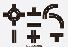 Vetor de ícones de estrada