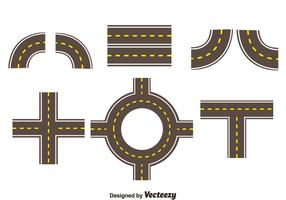 Roads Collection Set Vector