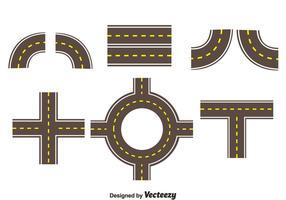 Colección de carreteras conjunto de vectores