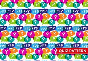 Trivia Quiz Patroon Vector