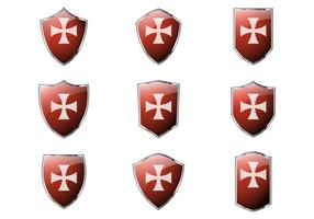 Gratis Templar Shield Vectors