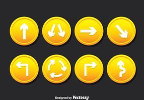 Verkeersborden vector set