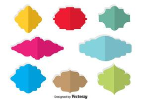 Colorful Blank Cartouche Vector