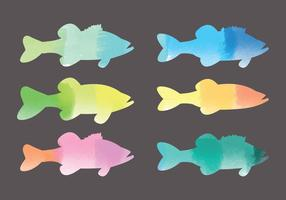 Vector Watercolor Fishes