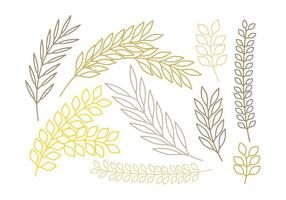 Vector Outlined Branches Set