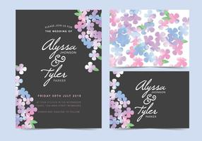 Black Vector Wedding Invite