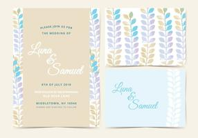 Vector Pastel Wedding Invite