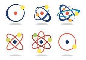 Atom vektor set