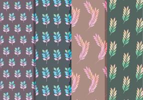 Motifs de la branche de fleurs vectorielles