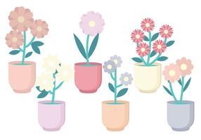 Coleção de flores vetoriais