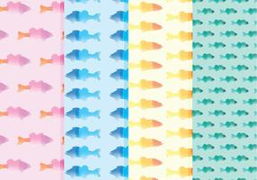 Padrões de peixes aquáticos de vetor