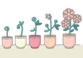 Colección linda de la flor del vector