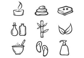 Ink Drawn Spa Icon Vectors