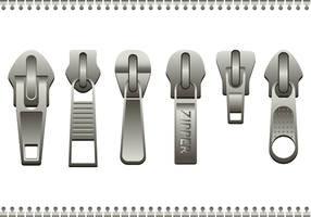Steel Zipper Pull Vector