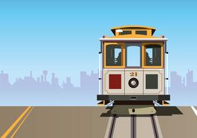 Cable Car Vector Background