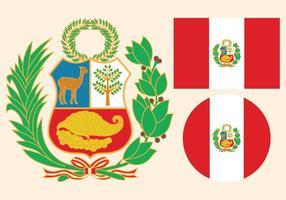 Peru-Flaggen-Vektoren