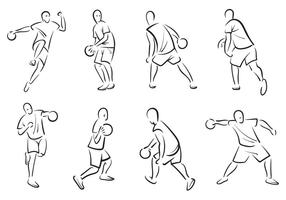 Free Dodgeball Player Vectors