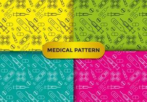 Färgglada medicinska mönstervektorer