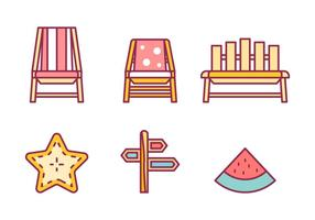 Gratis Beach Vector Pack