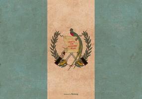 Grunge flagga av Guatemala