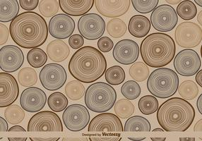 Vector Retro Tree Rings Pattern Illustration