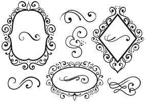 Free Ornaments 2 Vectors