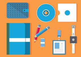 Free Flat Design Icon Conjunto de Business Vector