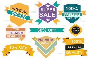Gratis Försäljning Origami Design Vector Etiketter