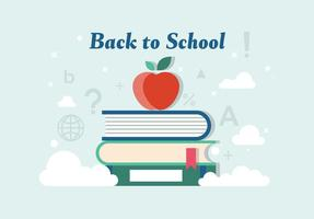 Gratis Back to School Vector Illustration