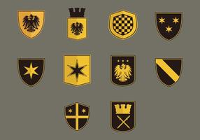 blason set di icone piatte
