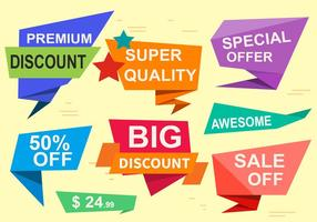 Libere las etiquetas del vector de la oferta especial
