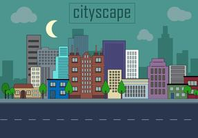 Gratis Urban Landscape Vector Illustration