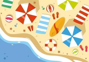 Free Summer Beach Vector Illustration